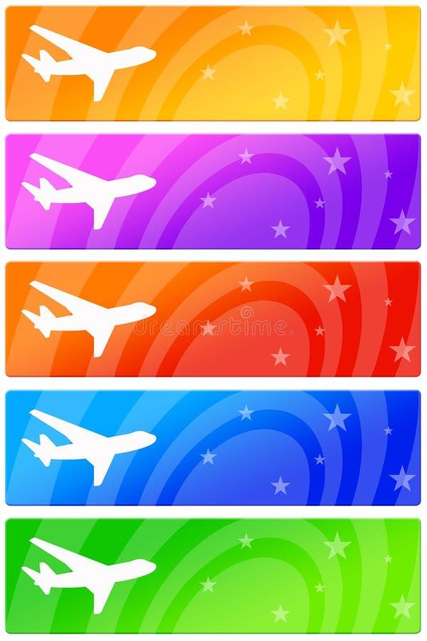Banderoles publicitaires d'avion illustration libre de droits