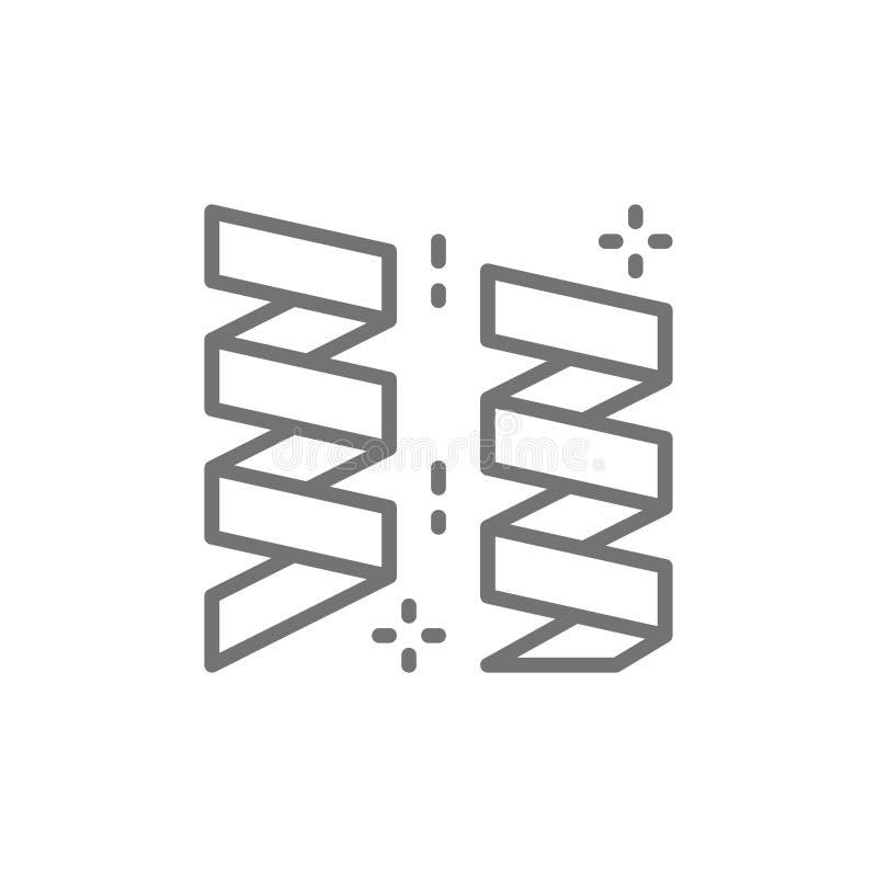 Banderollband, girlander, konfettier, partitillbehör fodrar symbolen stock illustrationer