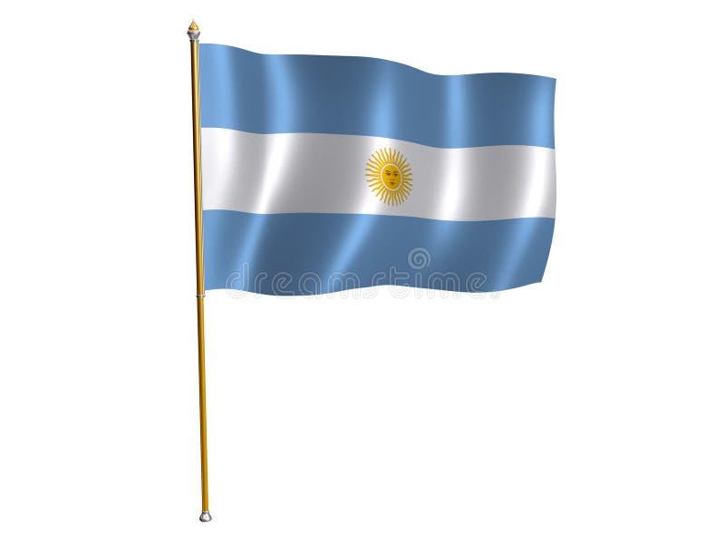 bandery argentyński jedwab royalty ilustracja