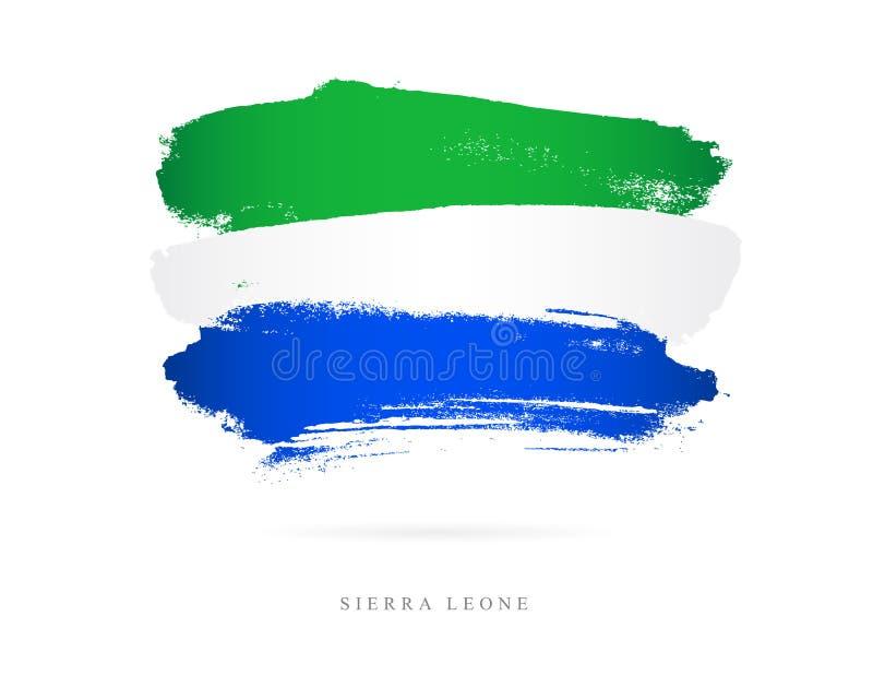 bandery sierra leone Abstrakcjonistyczny pojęcie royalty ilustracja