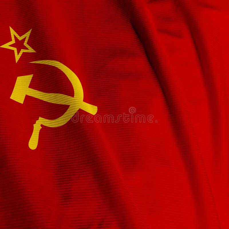 bandery zbliżania związku radzieckiego zdjęcie royalty free