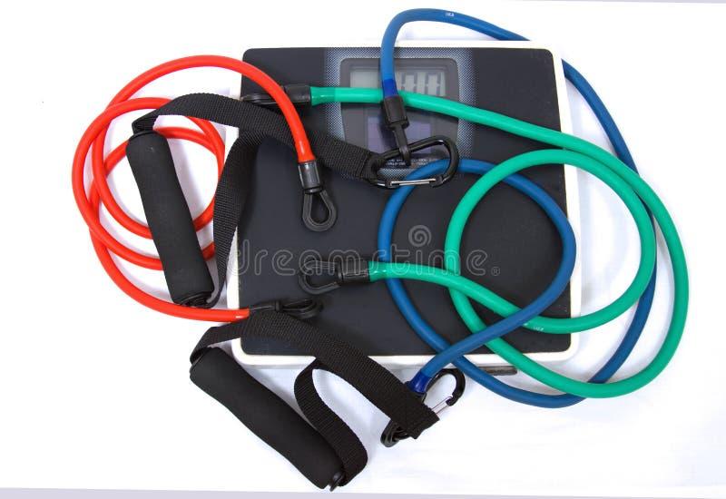 Bandes élastiques d'exercice photographie stock