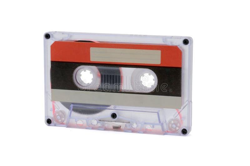 Bandes audio compactes pour l'enregistrement magnétique sur un fond blanc Cassettte compact images libres de droits