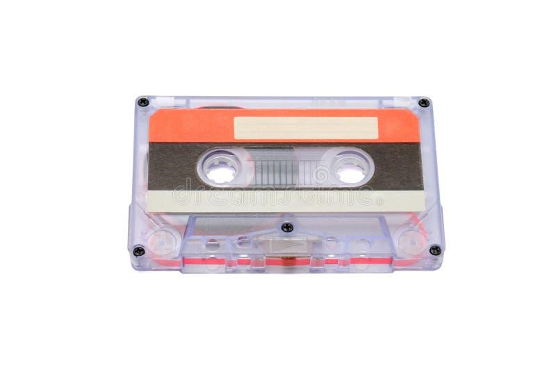 Bandes audio compactes pour l'enregistrement magnétique sur un fond blanc Cassettte compact photos libres de droits
