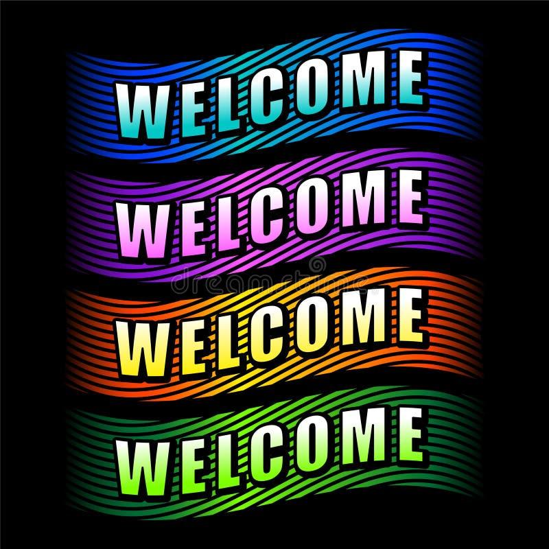 Bandes bienvenues illustration de vecteur