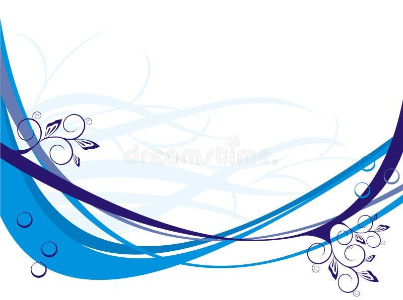 Bandes bleues de courbe illustration de vecteur