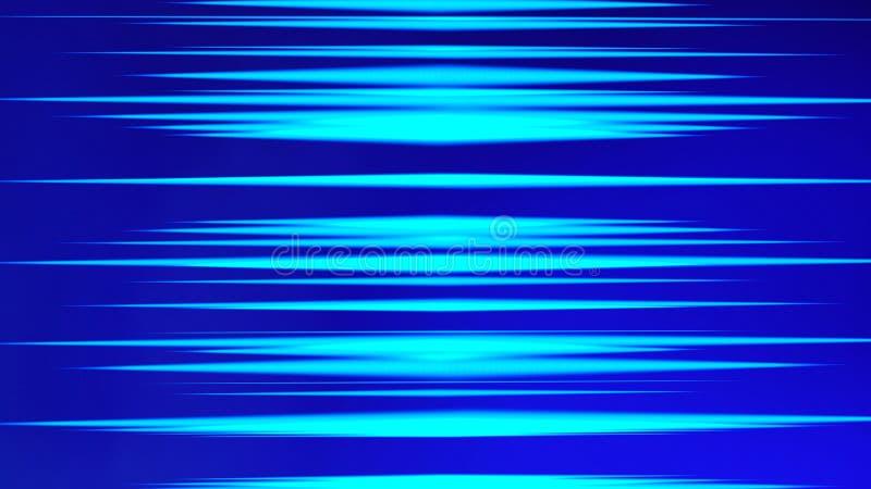 Bandes bleues de lumières pour le calculateur numérique futuriste Concept d'Internet, fond trouble de technologie de mouvement de illustration de vecteur