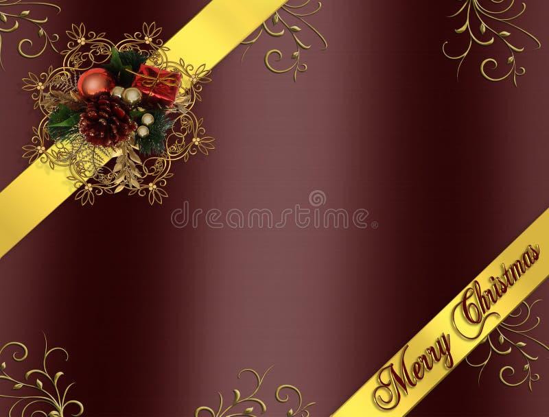 Bandes Bourgogne de cadre de Noël illustration stock