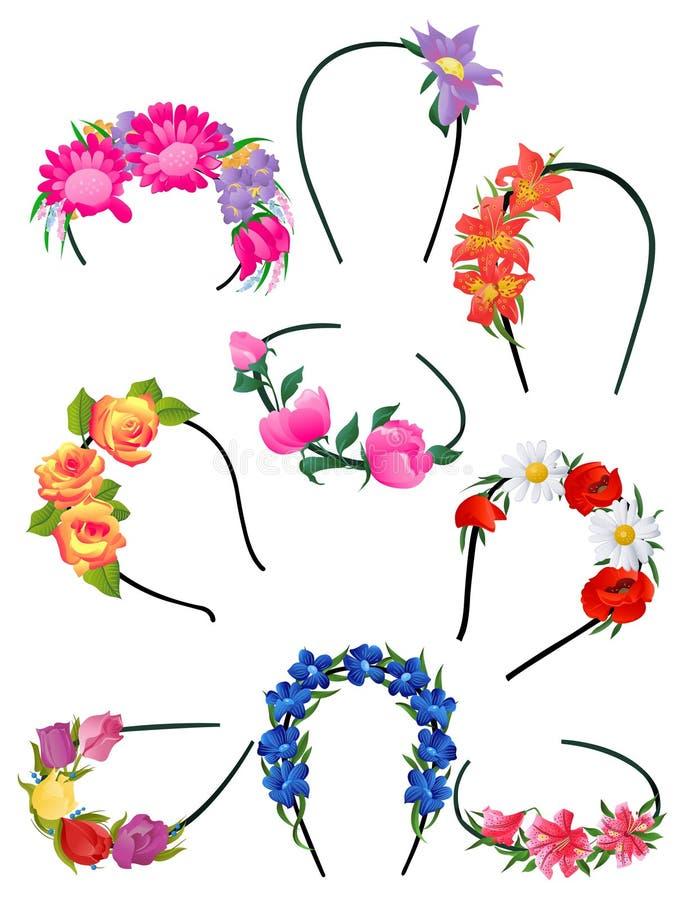 Bandes d'Alice avec des fleurs illustration libre de droits