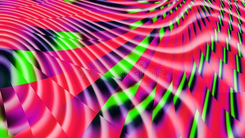 Bandes d'arc-en-ciel Cathédrale de StVitus Kaléidoscope de couleurs Lueur au néon illustration libre de droits