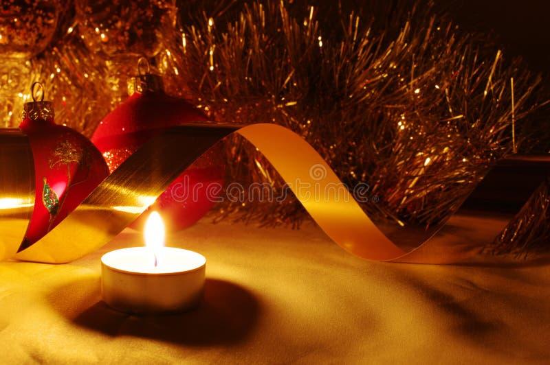 bandes d'or de Noël de billes images libres de droits
