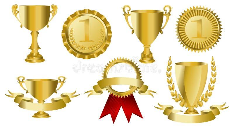 bandes d'or de récompense illustration libre de droits