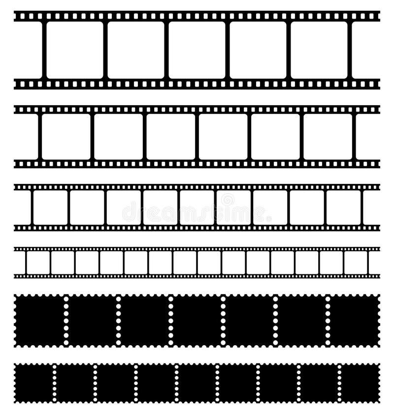 bandes d'estampilles de positionnement de film illustration libre de droits