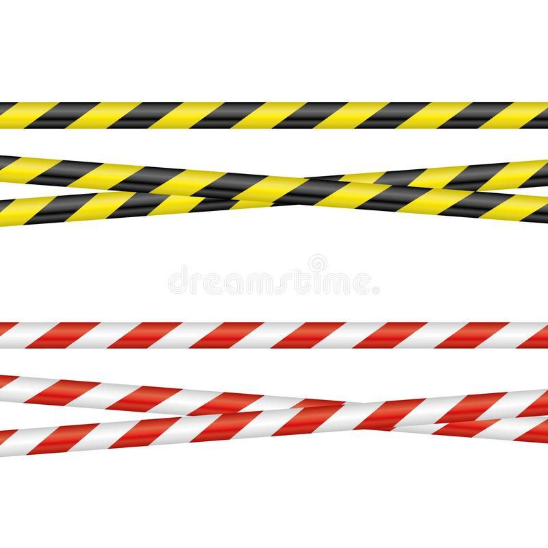 Bandes de barrière illustration stock
