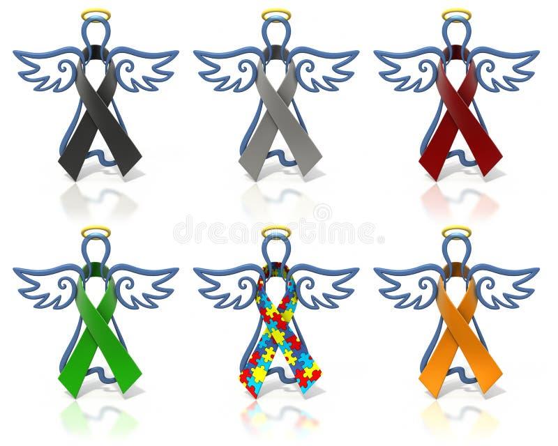 Bandes de conscience d'ensemble d'anges illustration stock