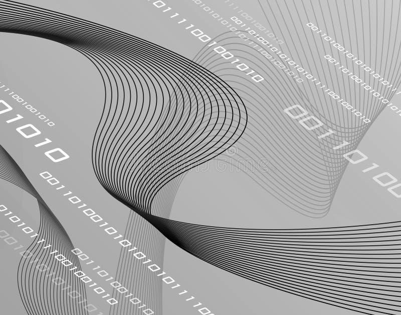 Bandes de fil de la gamme de gris 3D illustration libre de droits