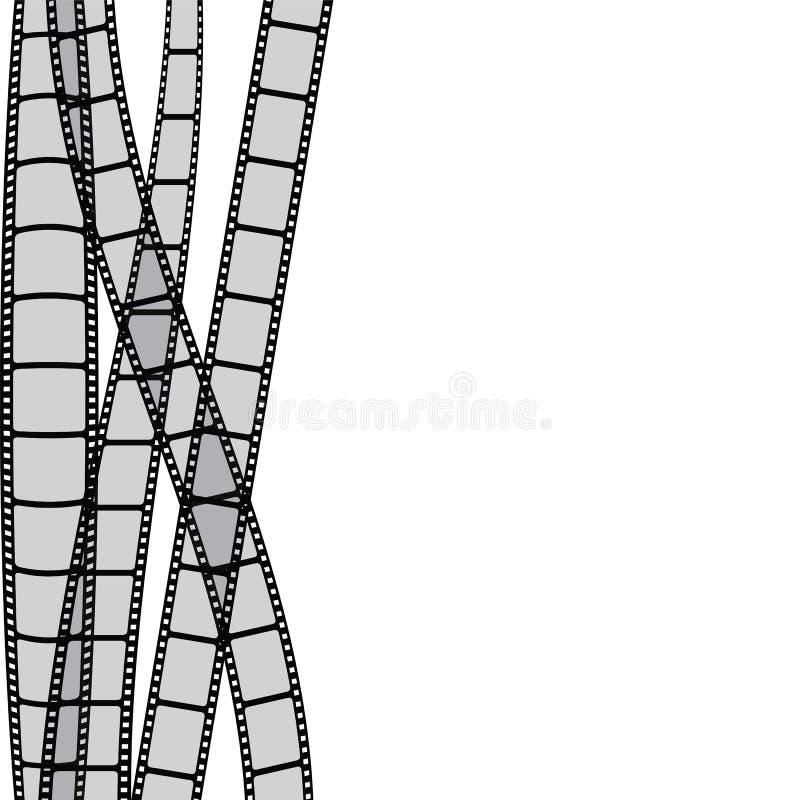 Bandes de film illustration de vecteur