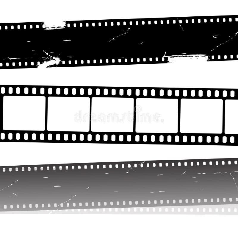 Bandes de film de film de vecteur illustration stock
