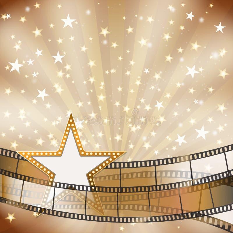 Bandes de film et cadre d'étoile illustration libre de droits