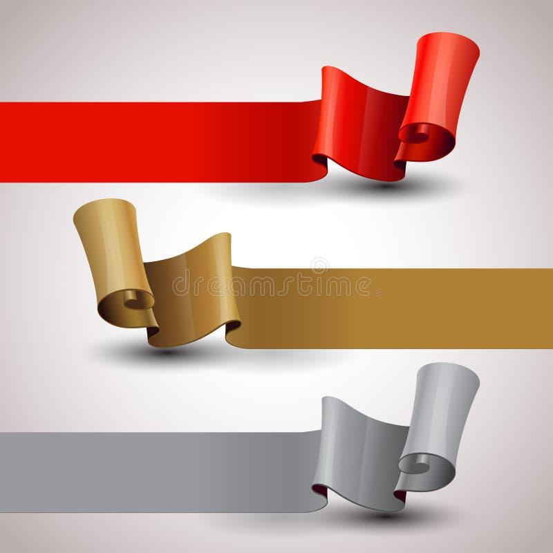 Bandes de vecteur réglées Calibre infographic de conception illustration de vecteur