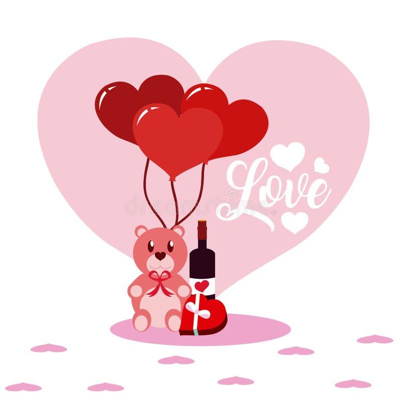 Bandes dessinées mignonnes d'amour illustration stock