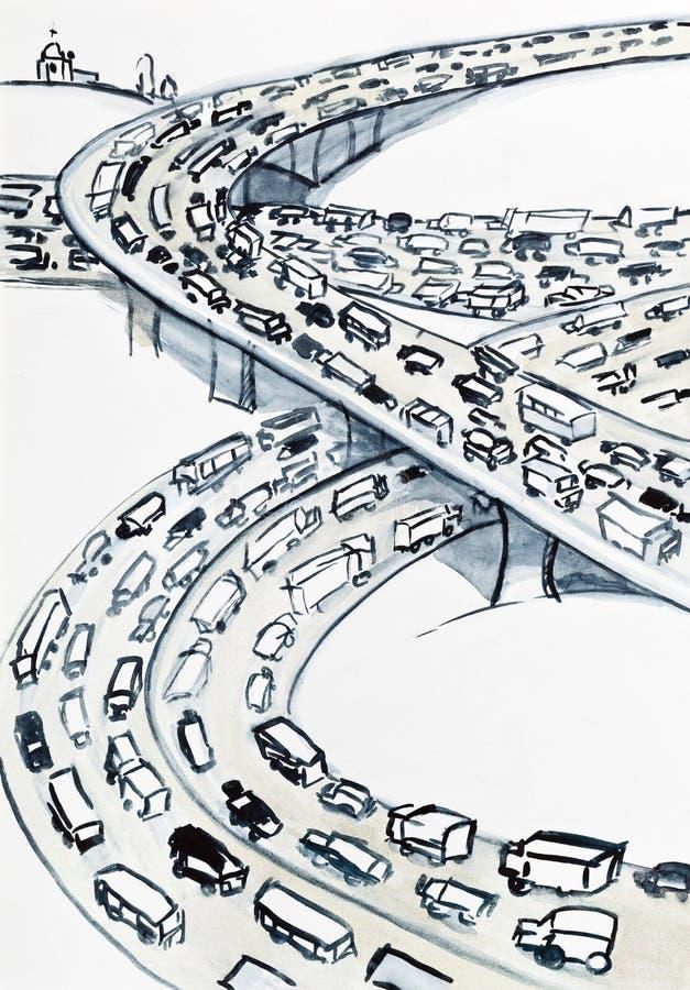 Bandes infinies des routes illustration stock