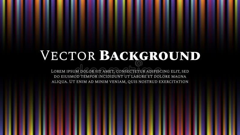 Bandes légères multicolores avec l'espace pour le texte Fond abstrait de vecteur illustration libre de droits
