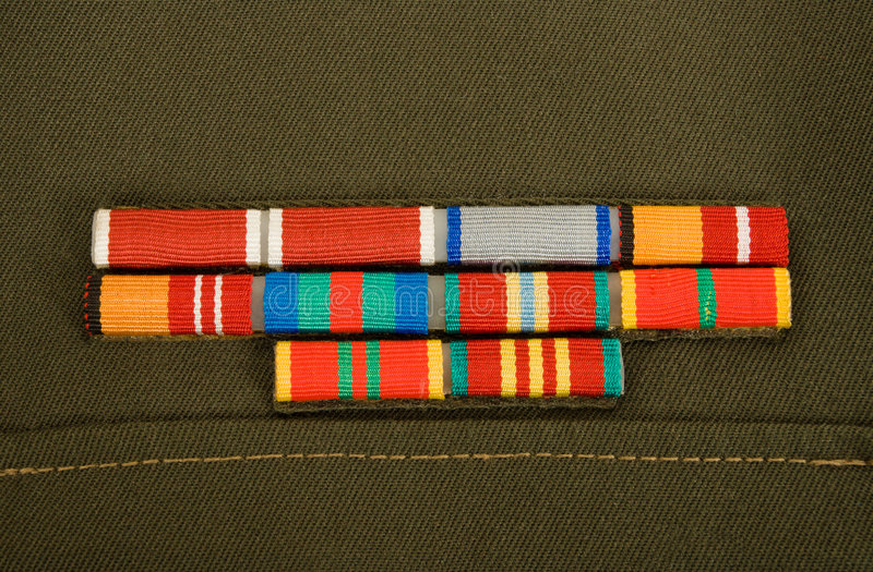 Bandes militaires image stock