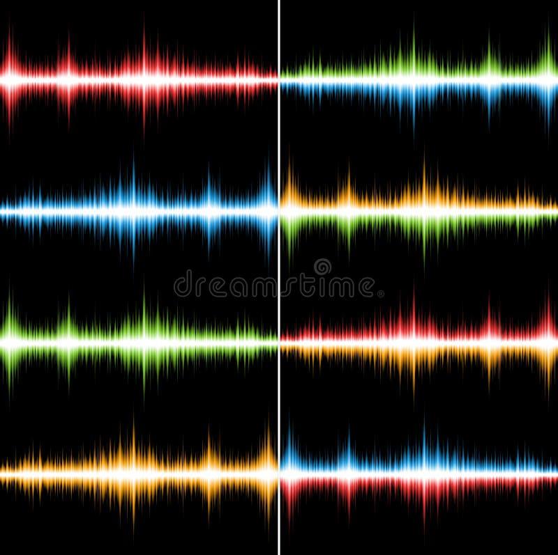Bandes sonores colorées illustration libre de droits