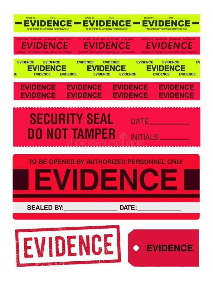 Bandes, timbre, autocollants et label de preuves illustration de vecteur