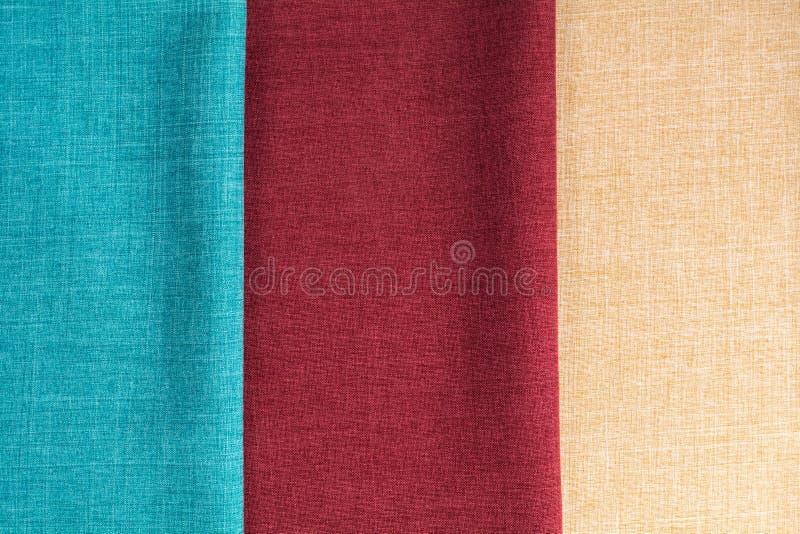 Bandes verticales de trois tissus photo libre de droits