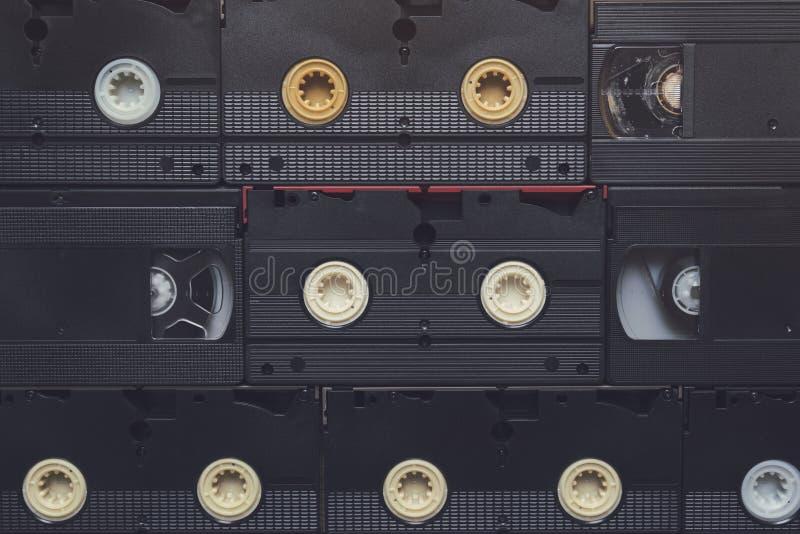 Bandes vidéo en cassettes de VHS photographie stock