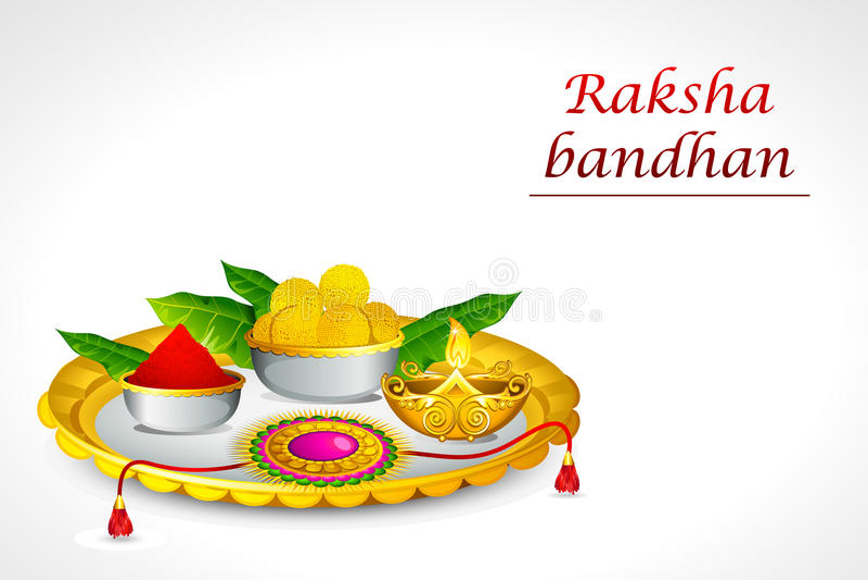 bandhan raksha 皇族释放例证