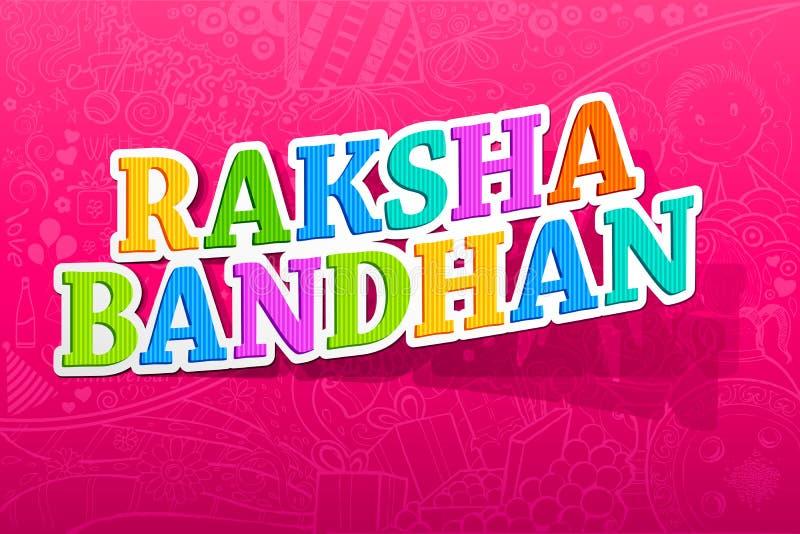 bandhan raksha royaltyfri illustrationer