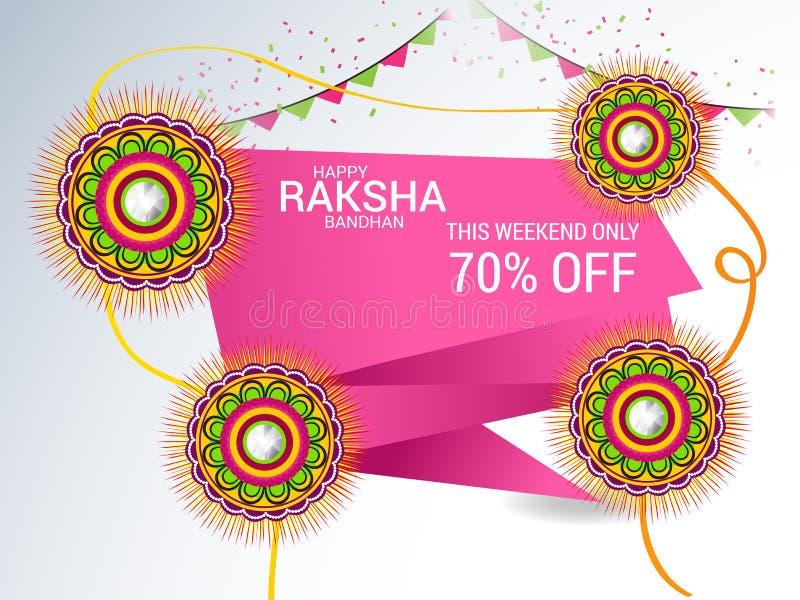 bandhan raksha vektor illustrationer