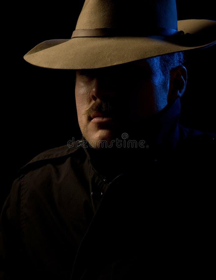 Bandido - estilo do noir da película fotografia de stock royalty free