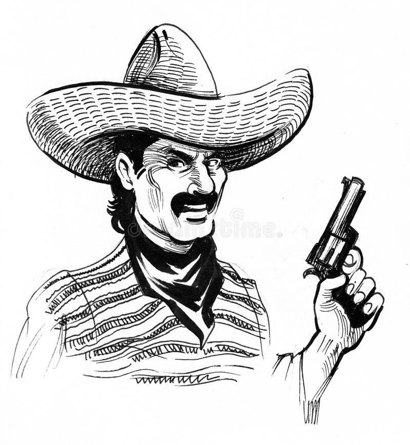 Bandido mexicano ilustração do vetor