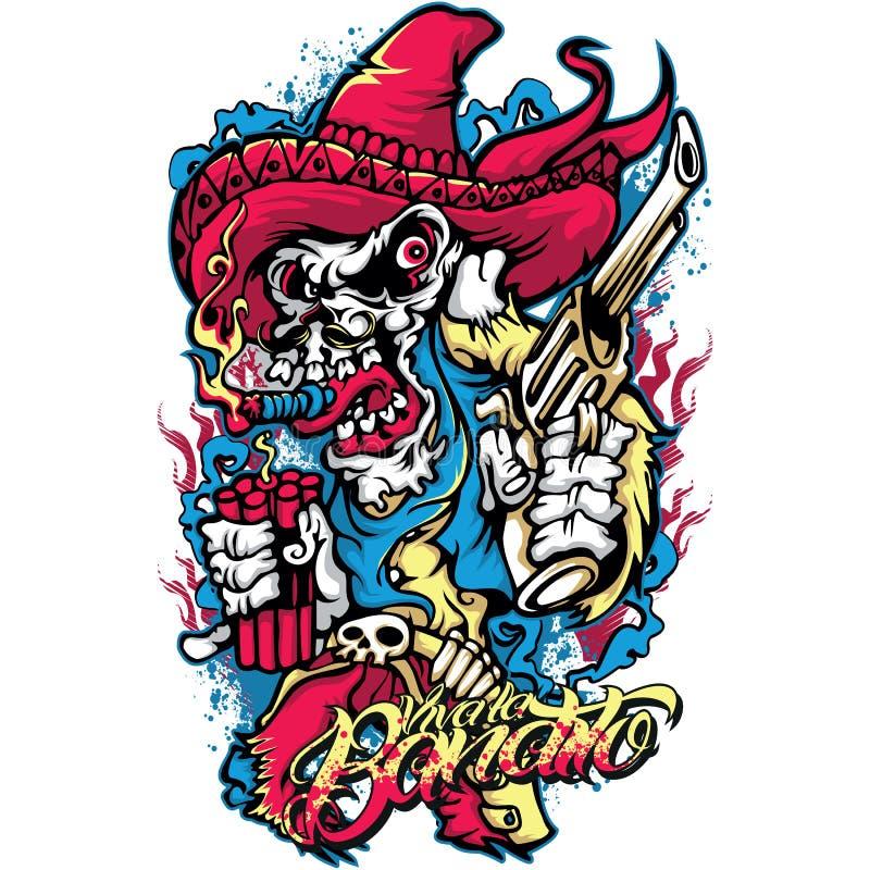 Bandido mexicano ilustração stock