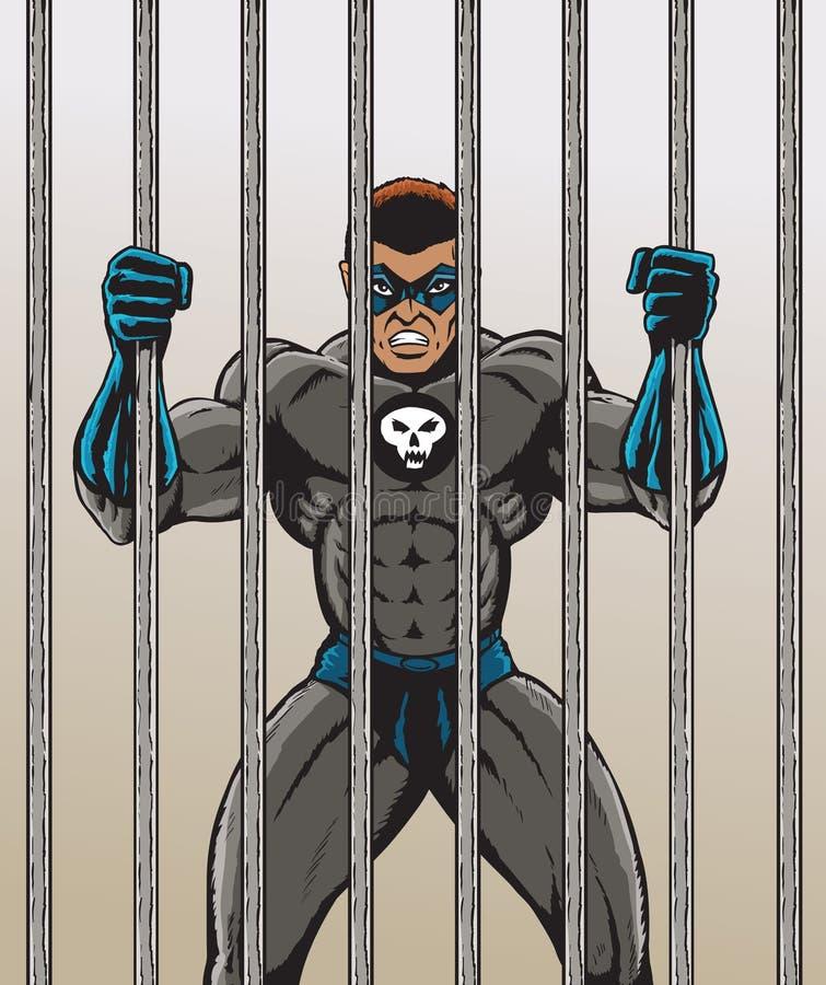 Bandido super ilustração do vetor