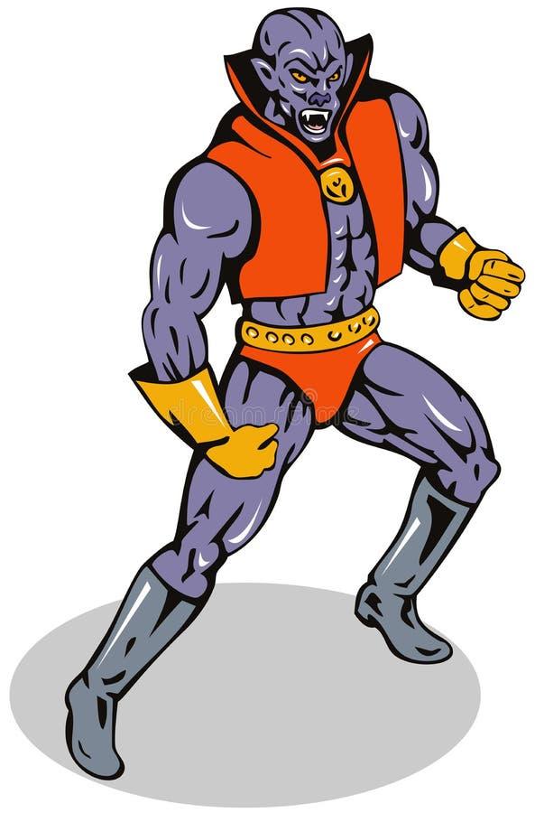 Bandido super ilustração stock