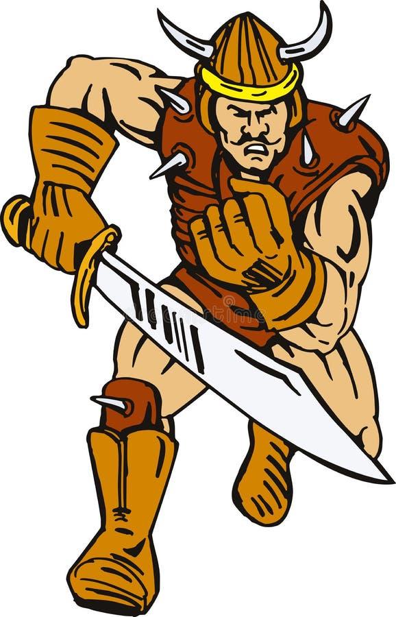 Bandido super com espada ilustração do vetor