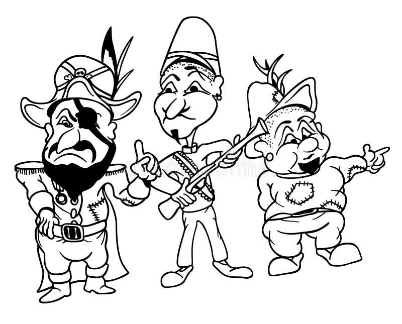 Bandidos ilustração royalty free