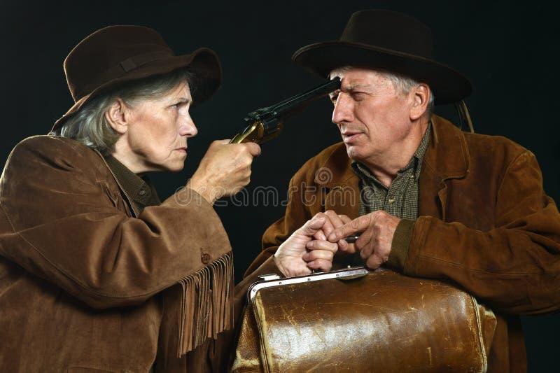 Bandidos del oeste salvajes imagenes de archivo