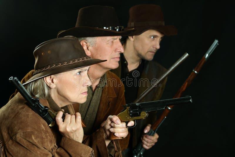 Bandidos del oeste salvajes imagen de archivo libre de regalías