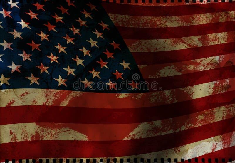 Bandiera americana illustrazione vettoriale