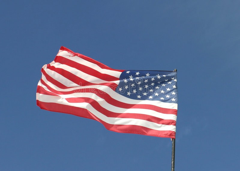 Bandiera americana. fotografie stock libere da diritti