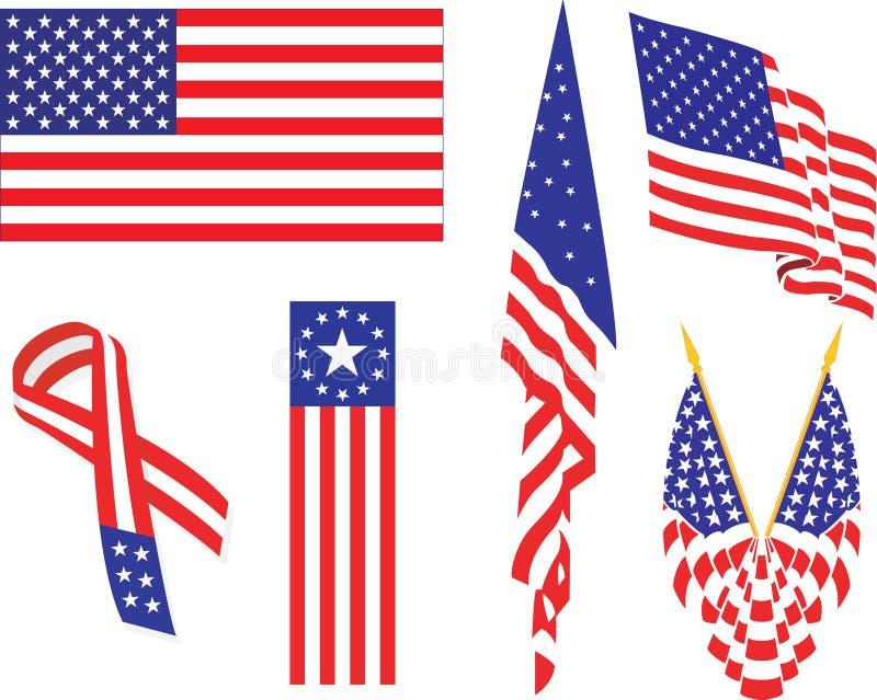 Bandiera americana. illustrazione vettoriale