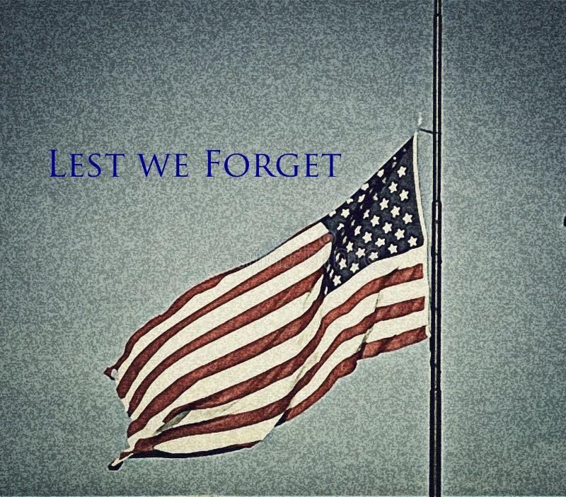 Bandiera americana al mezzo personale a Oklahoma City immagine stock