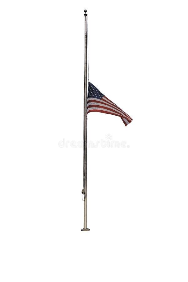 Bandiera americana al personale mezzo immagine stock libera da diritti
