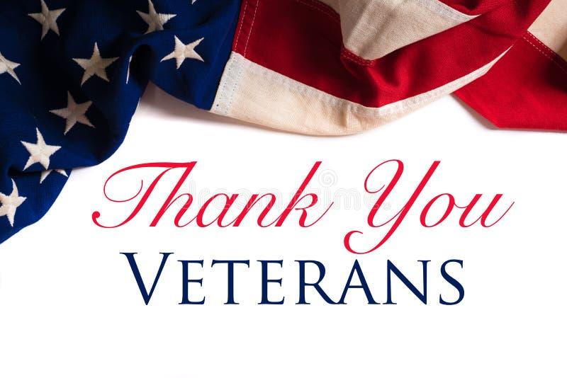 Bandiera americana d'annata per la giornata dei veterani fotografia stock libera da diritti